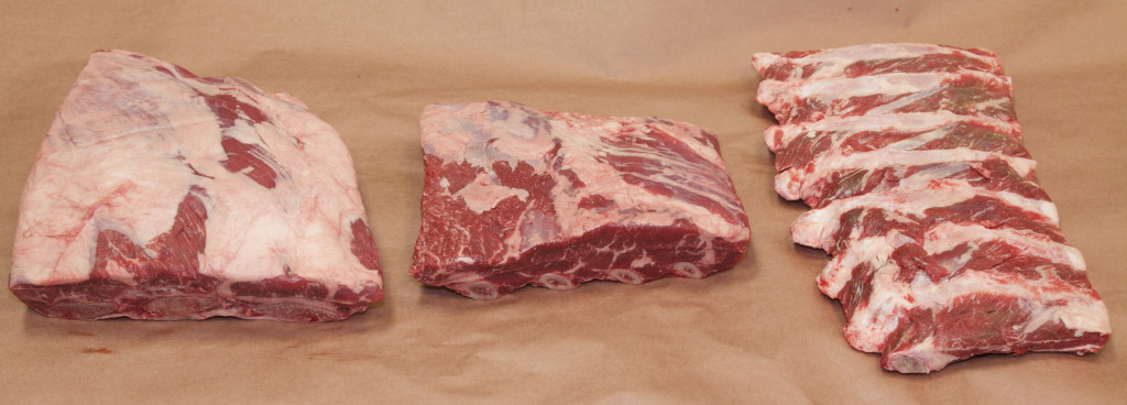 Comparing 123A, 124 and 130 Beef Ribs