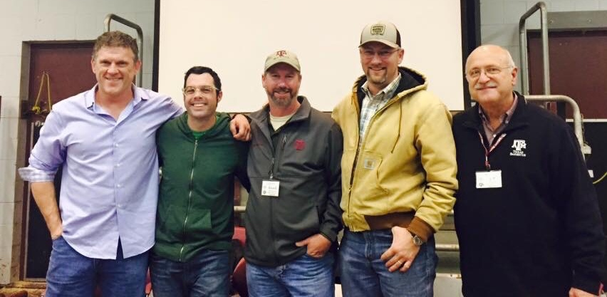 Wayne Mueller, Aaron Franklin, Russell Roegels, Bryan Bracewell, and Jeff Savell at pitmaster panel at Camp Brisket