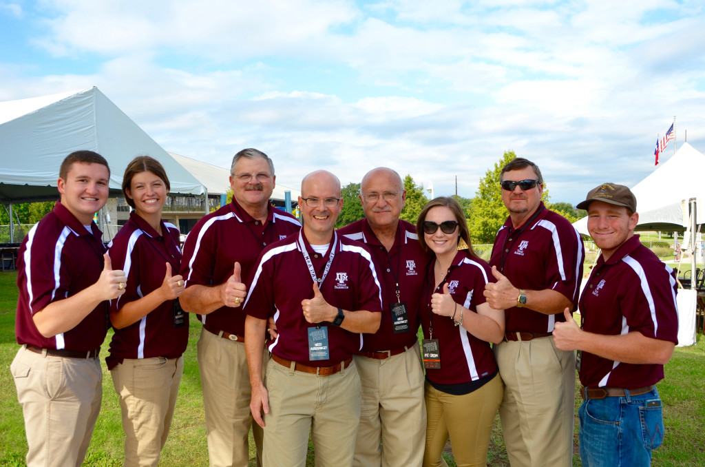 Aggie crew at TMBBQ Fest 2015 (photo courtesy of Juanpablo Wright)