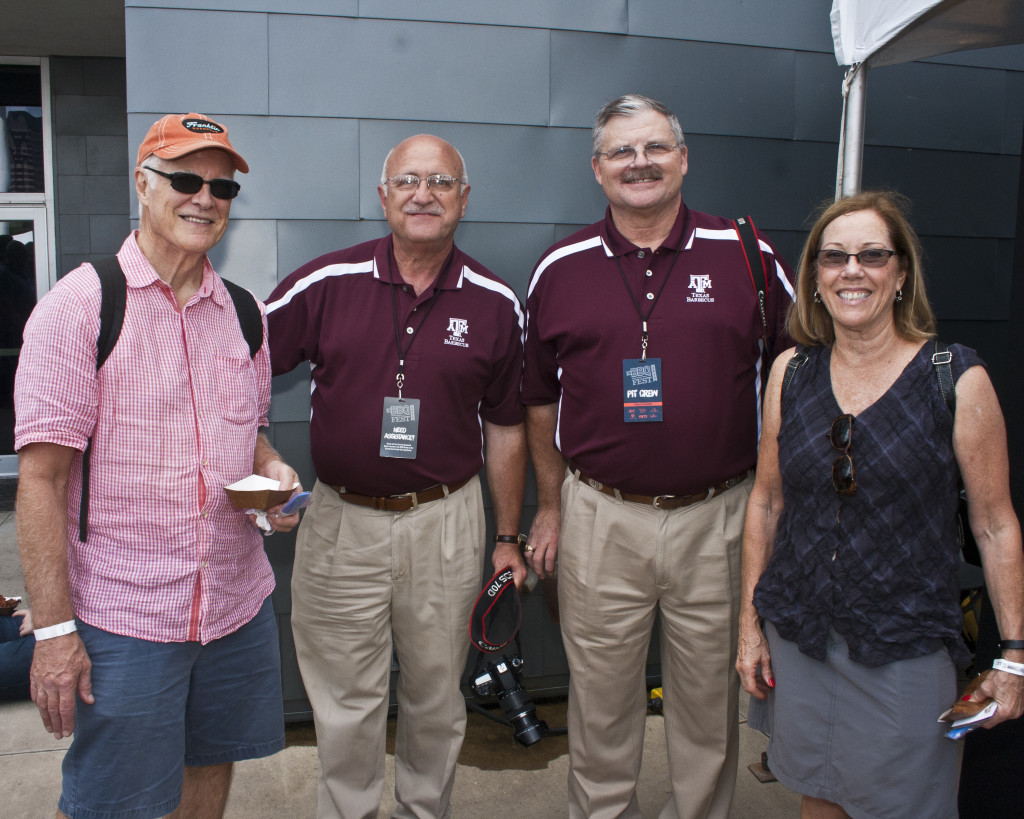 Jeff Savell and Davey Griffin with former students from Camp Brisket (courtesy of Jac Malloy)