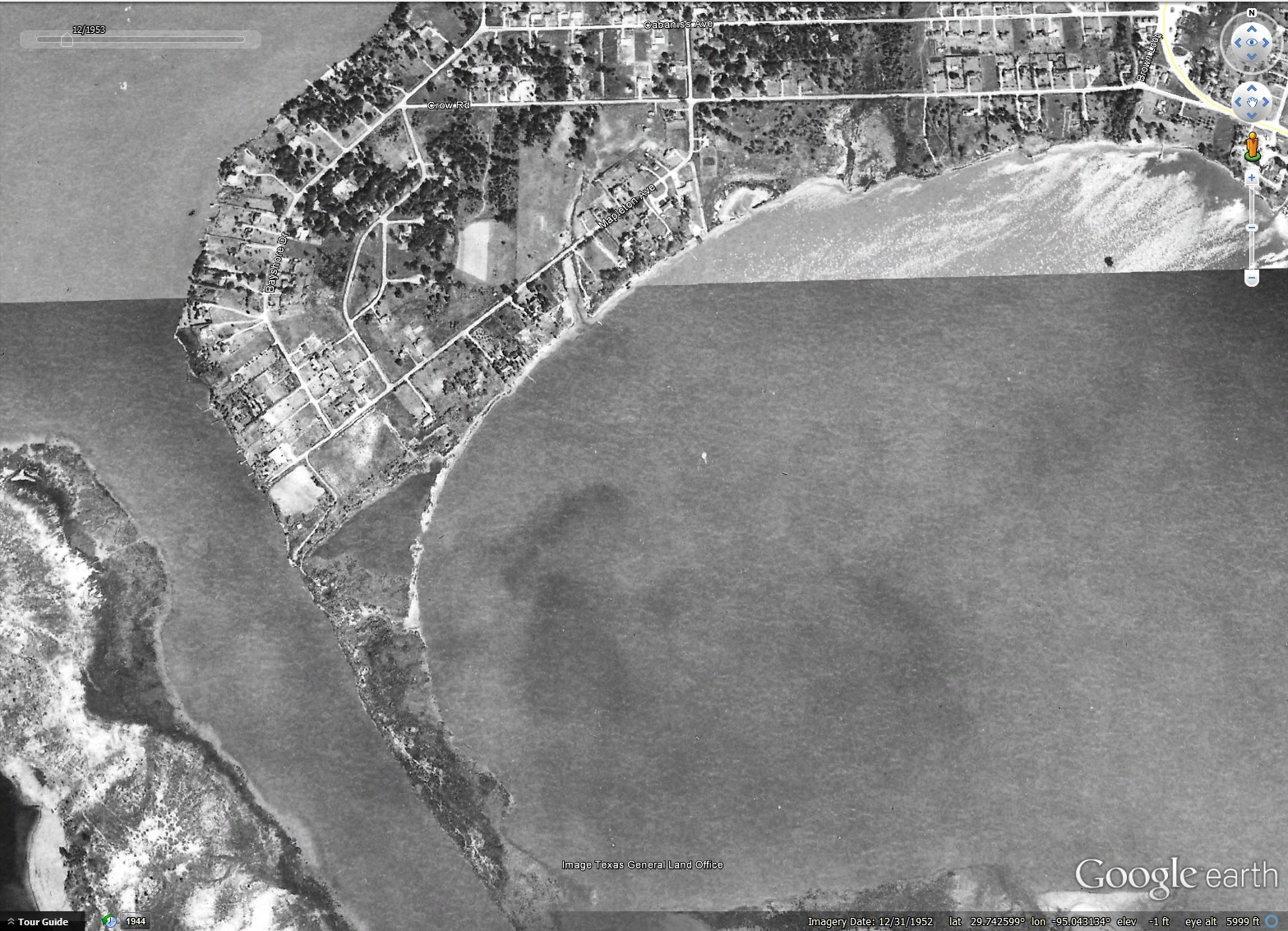 Brownwood Subdivision 12/31/1952 aerial from Google Earth.