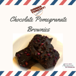 Chocolate Pomegranate Brownies, a recipe by Dinner Tonight