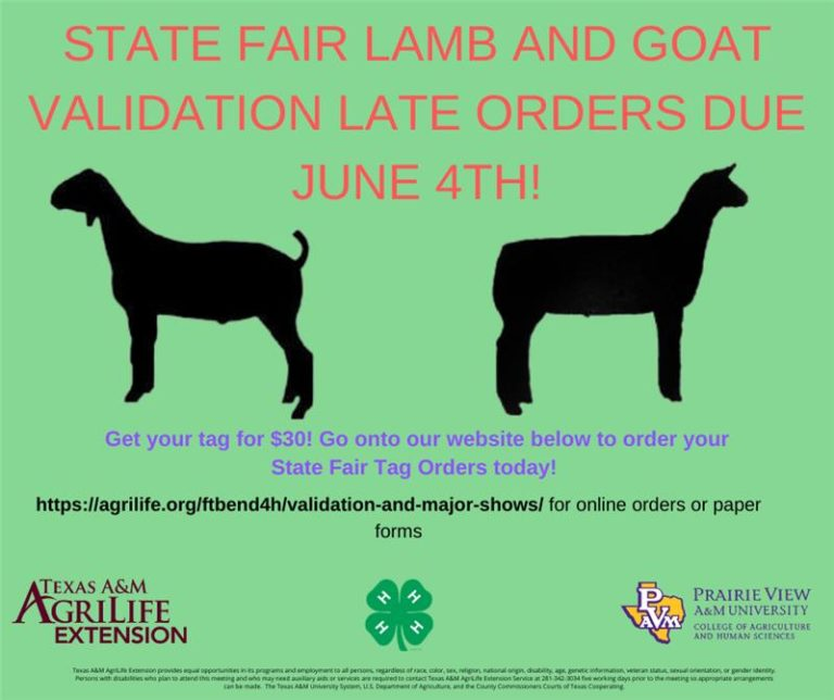 LATE Lamb and Goat Tags
