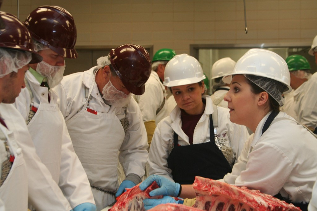 Beef 101 participants with Leslie Frenzel and Kayla Nelson Hendricks