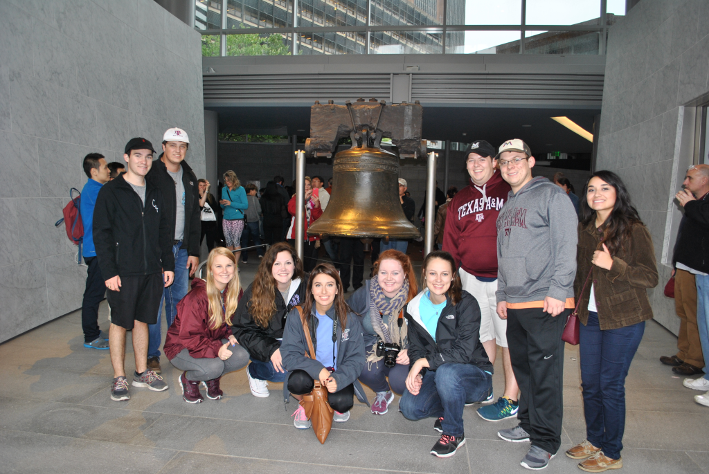 Meat judging team and Liberty Bell