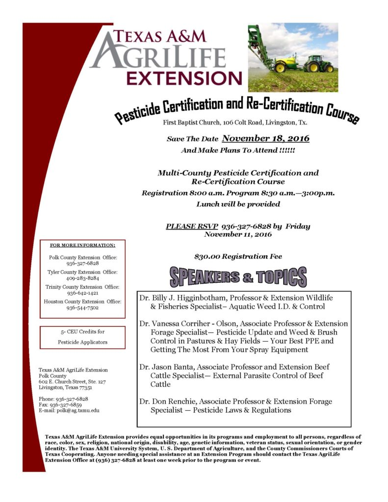 Pesticide certification and re certification 5 ceu livingston xflitez Gallery