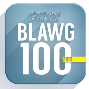 ABA Journal 9th Annual Blawg 100 - 2015