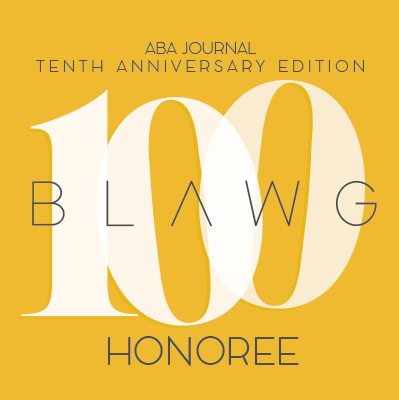 ABA Journal Tenth Anniversary Edition 100 BLAWG Honoree