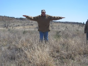 A quick way to estimate the amount of suitable Bobwhite nesting cover in an area.